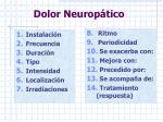 dolor neurop tico