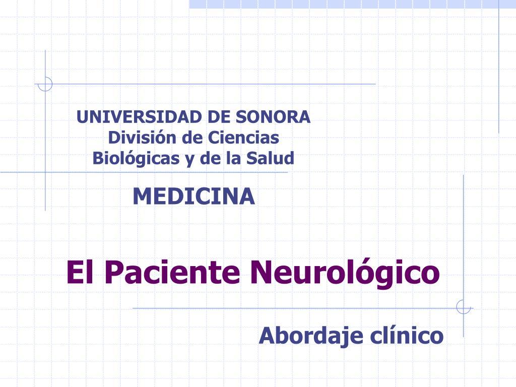 el paciente neurol gico l.