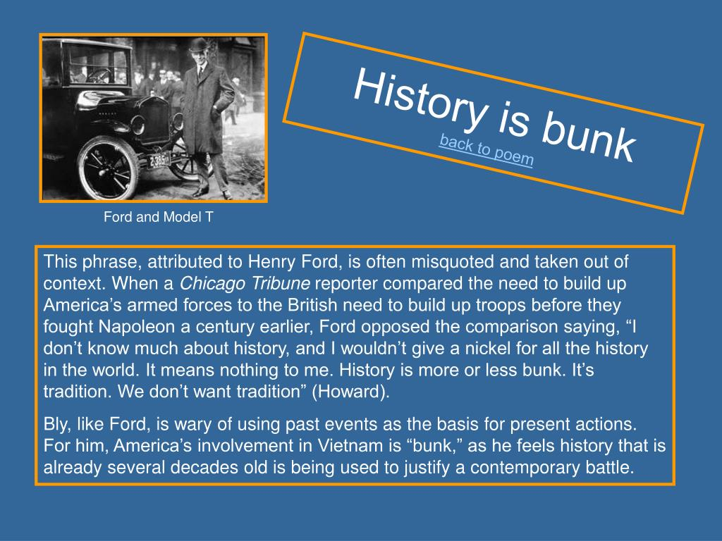 History is bunk