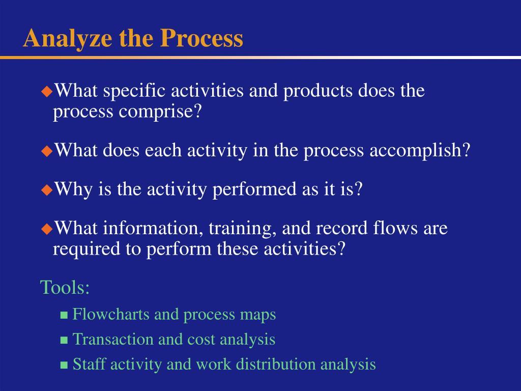 Analyze the Process