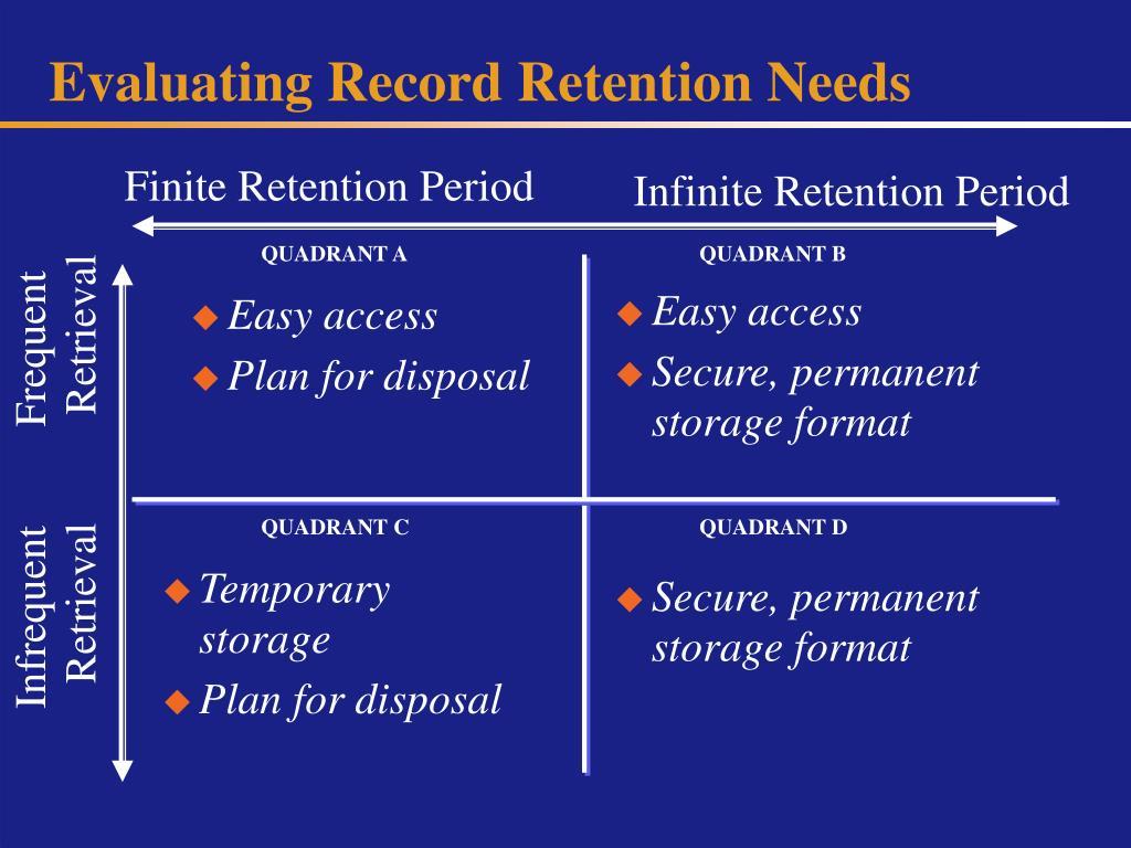 Evaluating Record Retention Needs