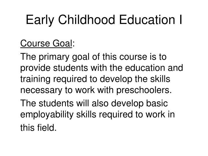 Early childhood education i3