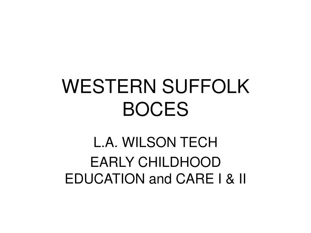 WESTERN SUFFOLK BOCES