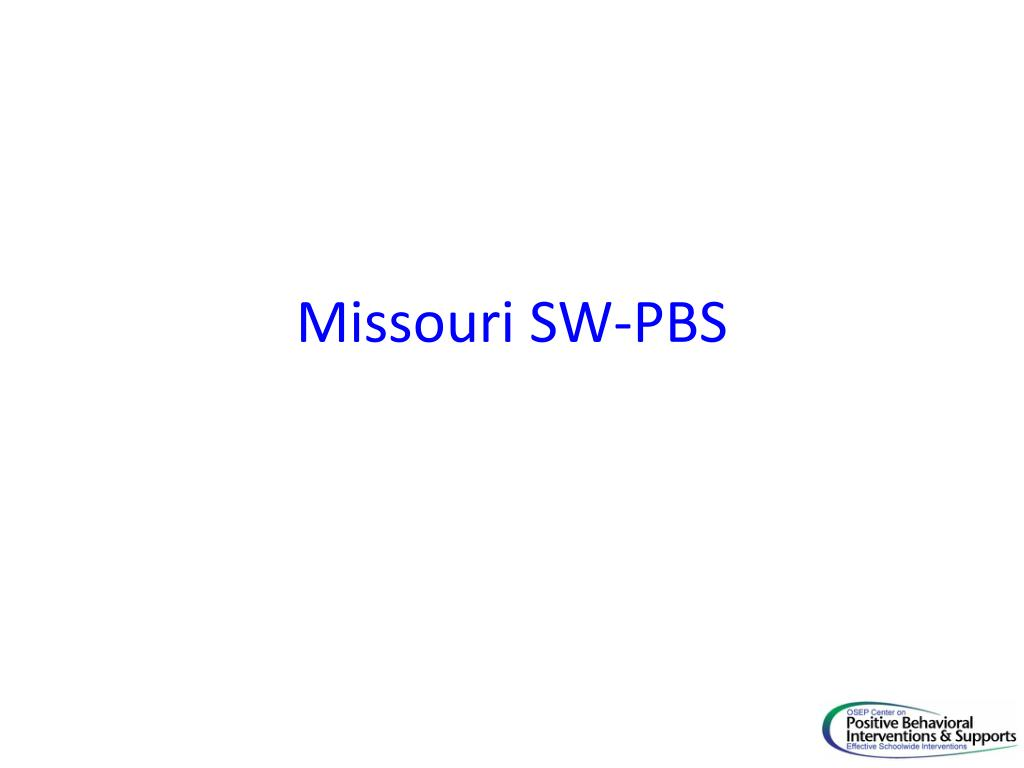 Missouri SW-PBS