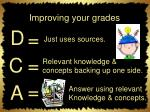 improving your grades