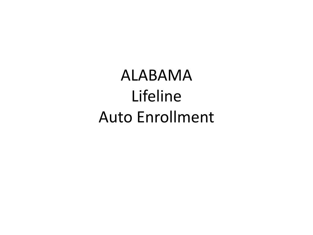 alabama lifeline auto enrollment l.