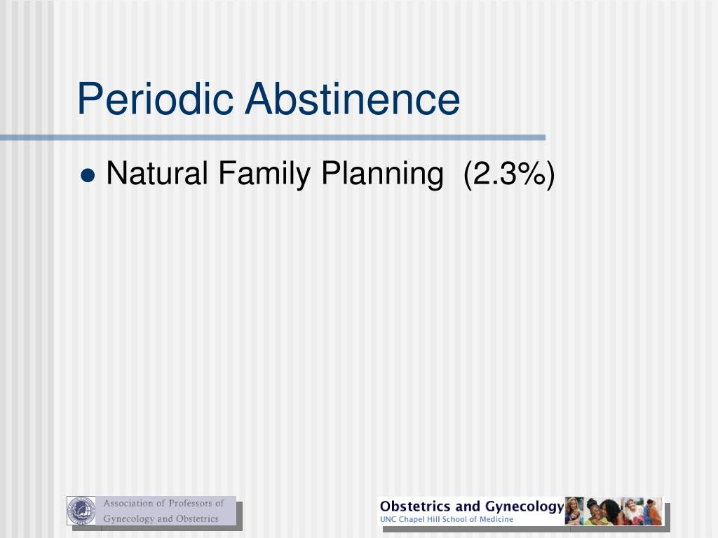 Periodic Abstinence