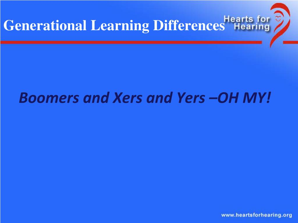 Generational Learning Differences