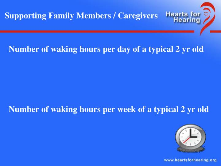Supporting family members caregivers