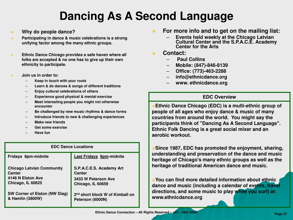 PPT - A Rationale for Offering Ethnic Folk Dance Programs in