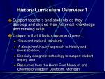 history curriculum overview 1