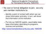 national academic consortium for homeland security nachs38