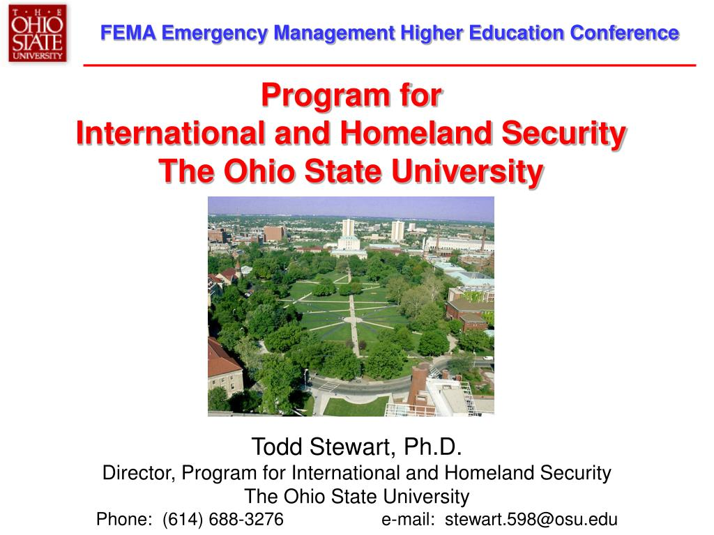 program for international and homeland security the ohio state university l.