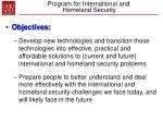 program for international and homeland security15
