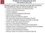 program for international and homeland security32