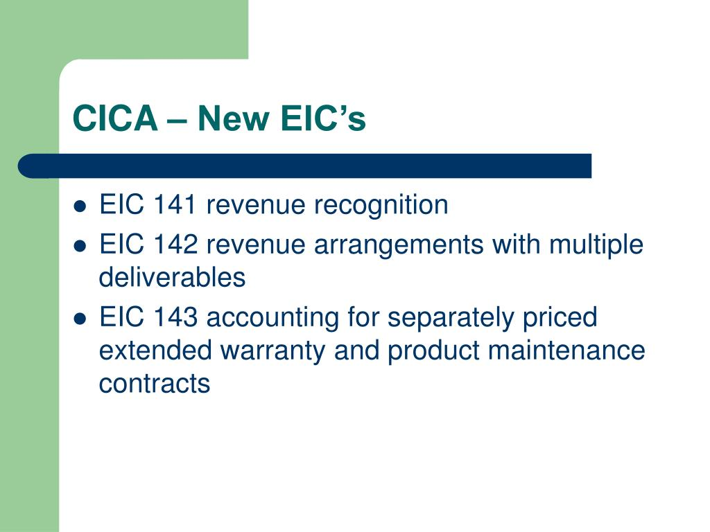 CICA – New EIC's