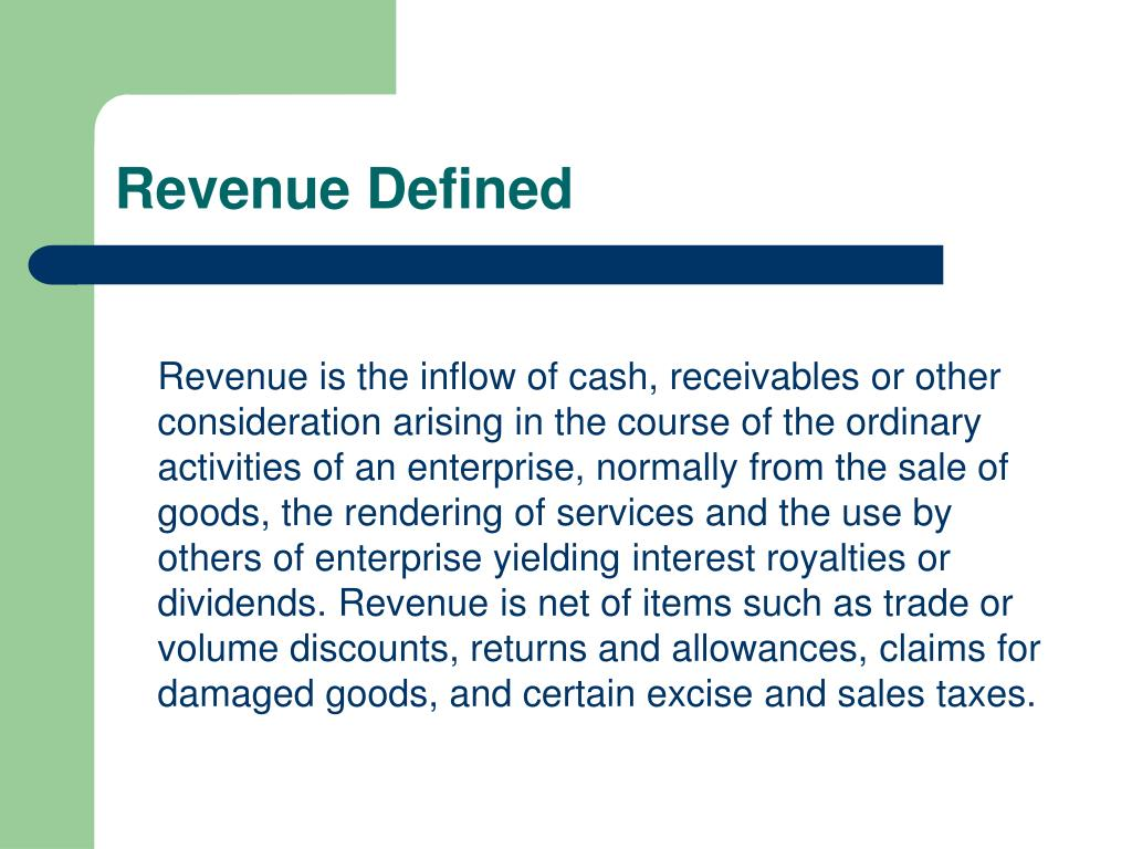Revenue Defined