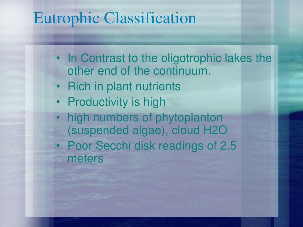 Eutrophic Classification