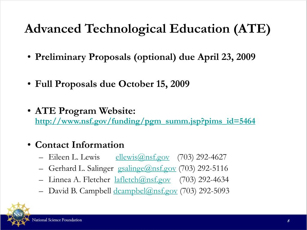 Advanced Technological Education (ATE)