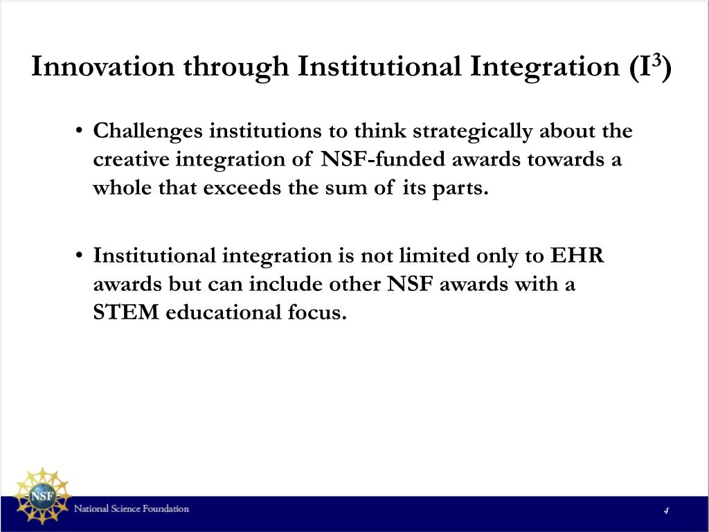 Innovation through Institutional Integration (I