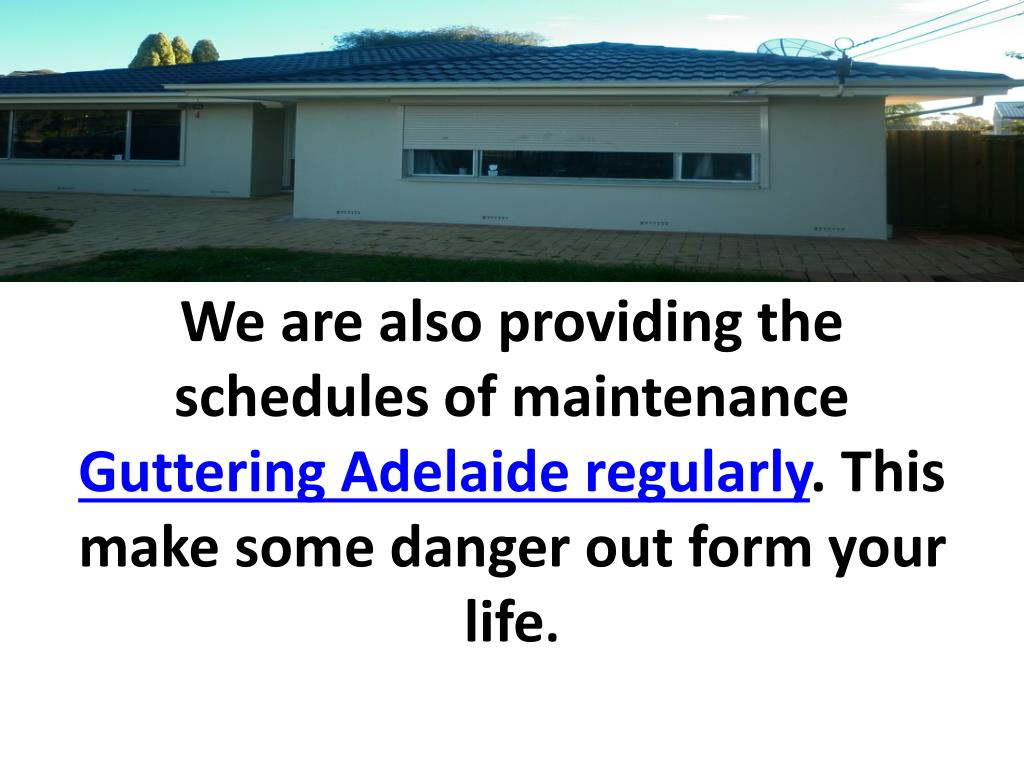 We are also providing the schedules of maintenance