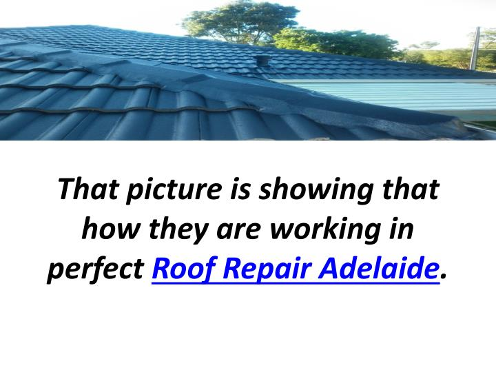 That picture is showing that how they are working in perfect roof repair adelaide