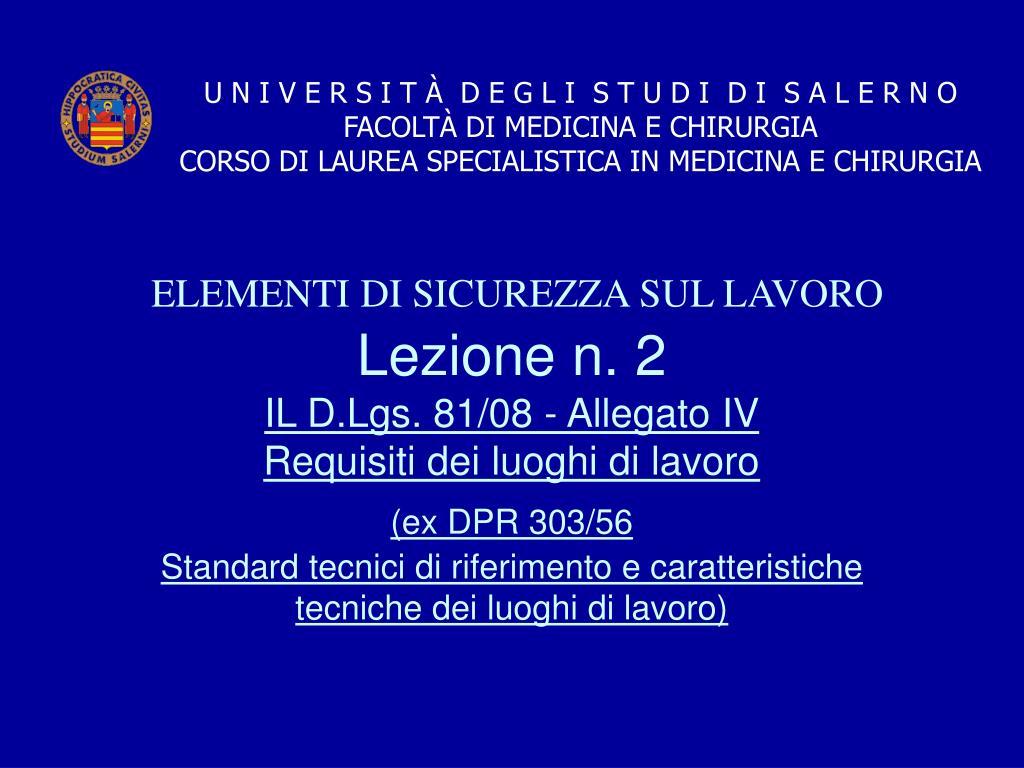 Lezione n. 2