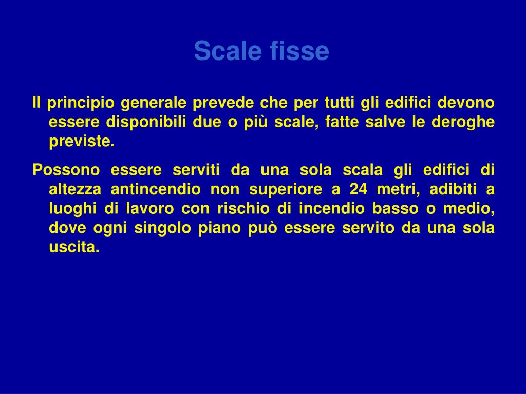 Scale fisse