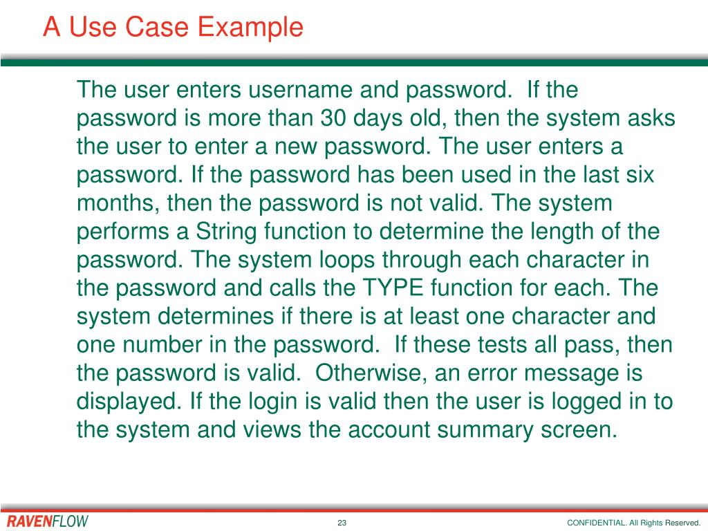 A Use Case Example