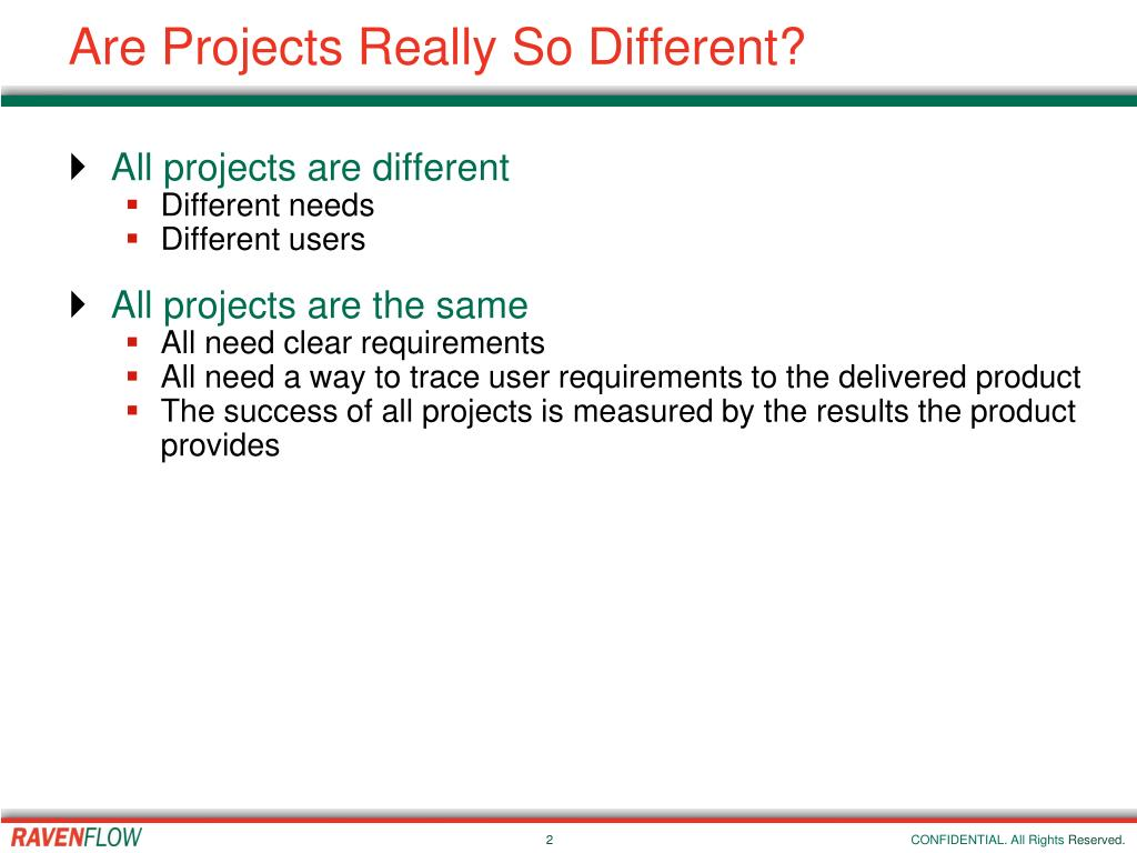 Are Projects Really So Different?