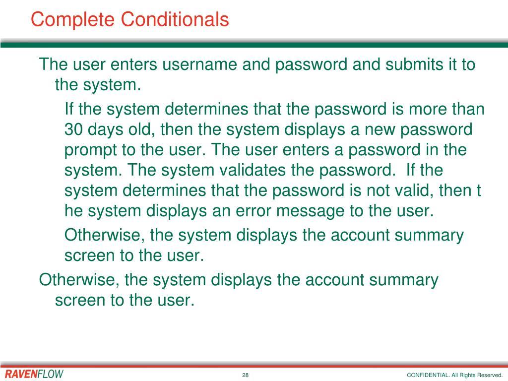 Complete Conditionals