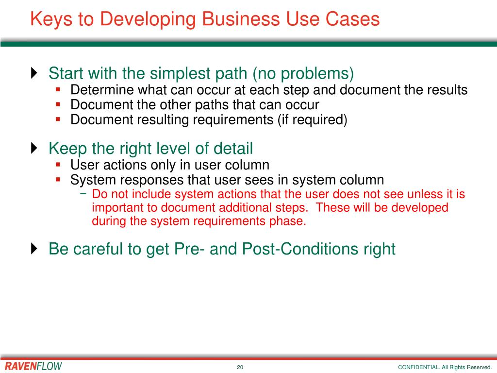 Keys to Developing Business Use Cases