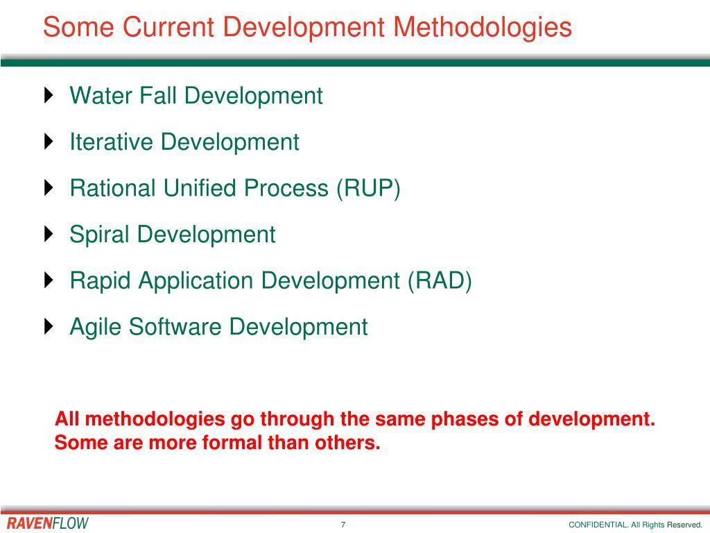 Some Current Development Methodologies