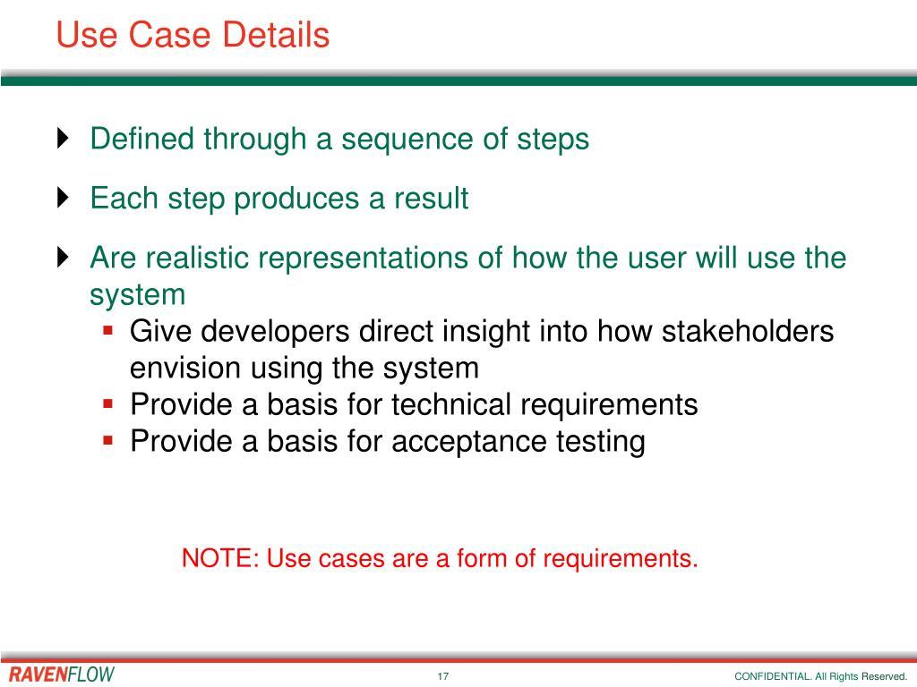 Use Case Details