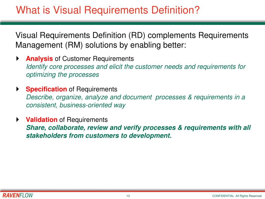 What is Visual Requirements Definition?