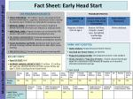 fact sheet early head start