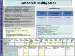 fact sheet healthy steps