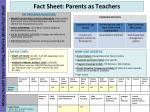 fact sheet parents as teachers