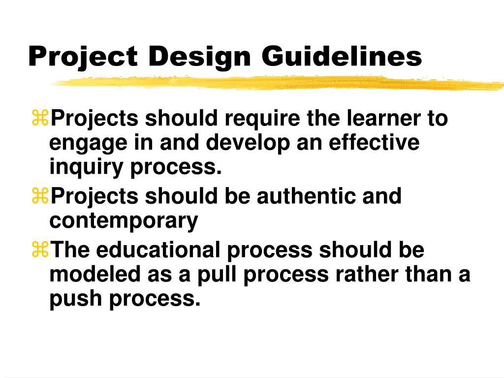 Project Design Guidelines
