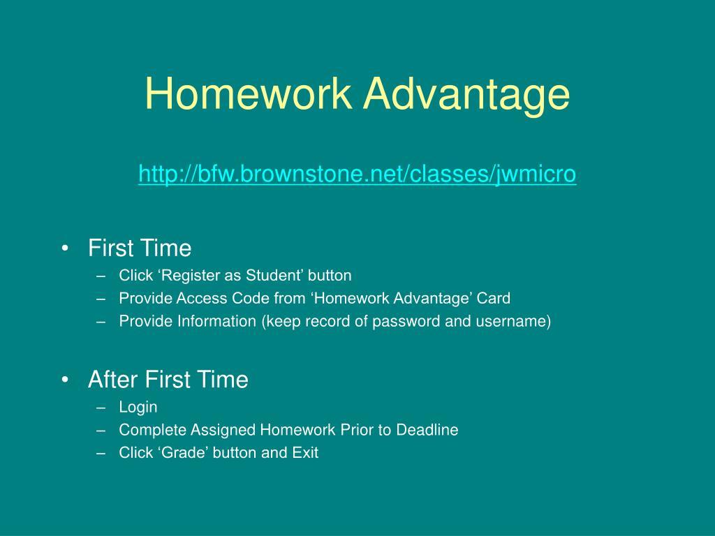 Homework Advantage