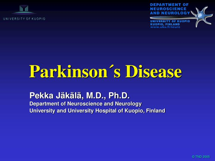 parkinsons disease outline