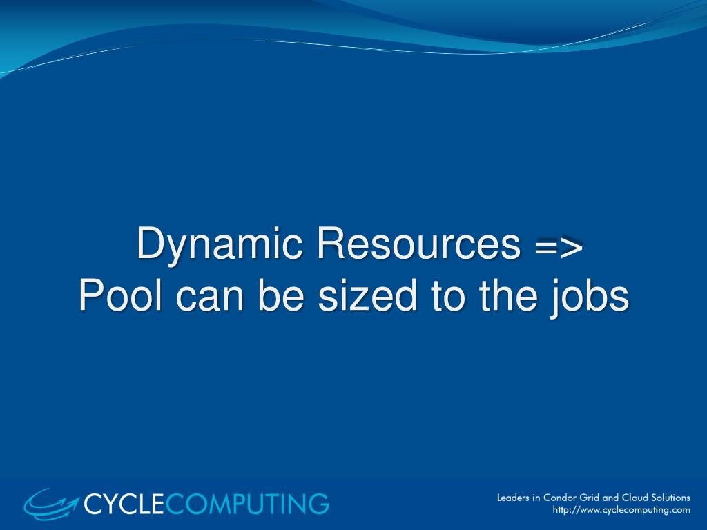 Dynamic Resources =>