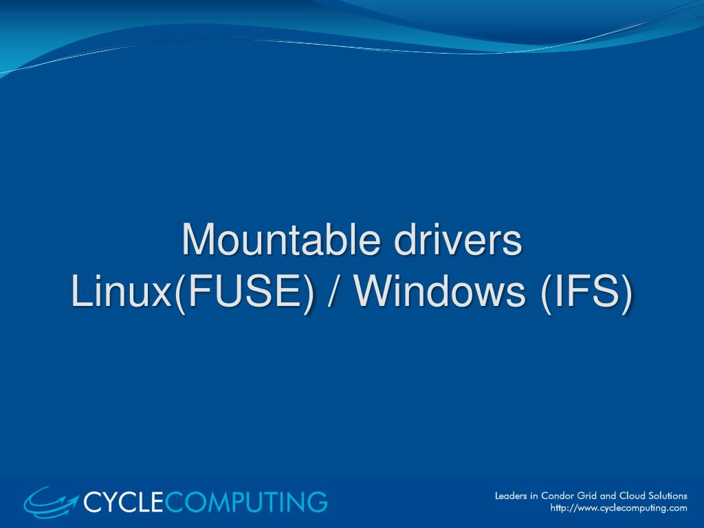 Mountable drivers