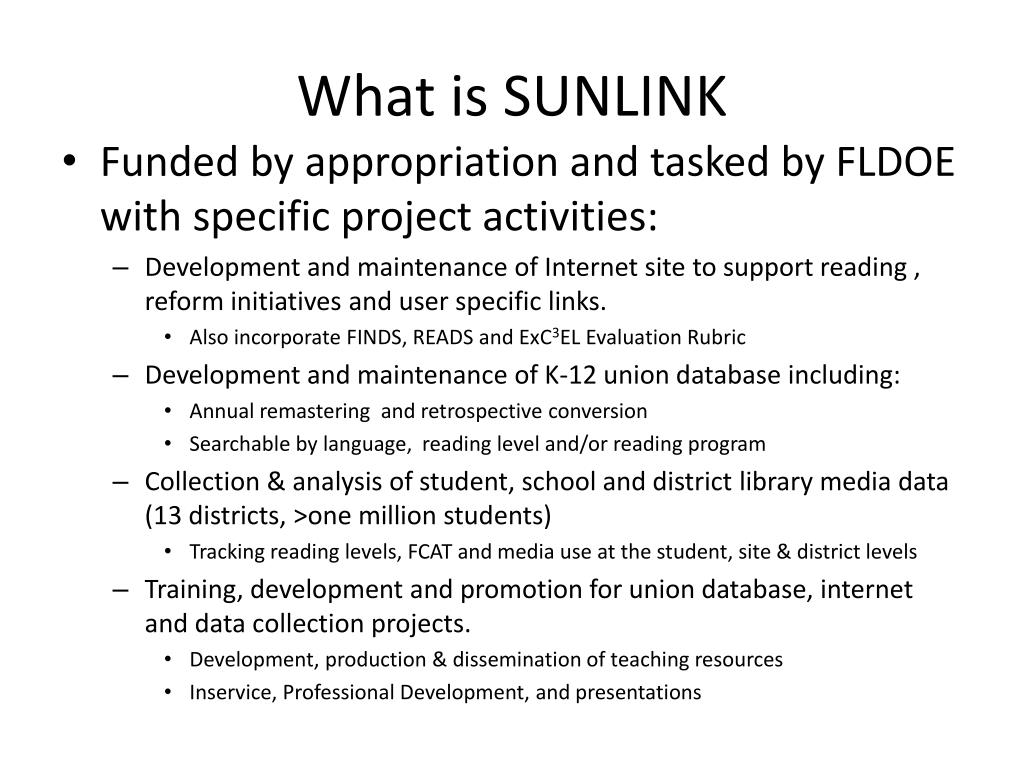 What is SUNLINK