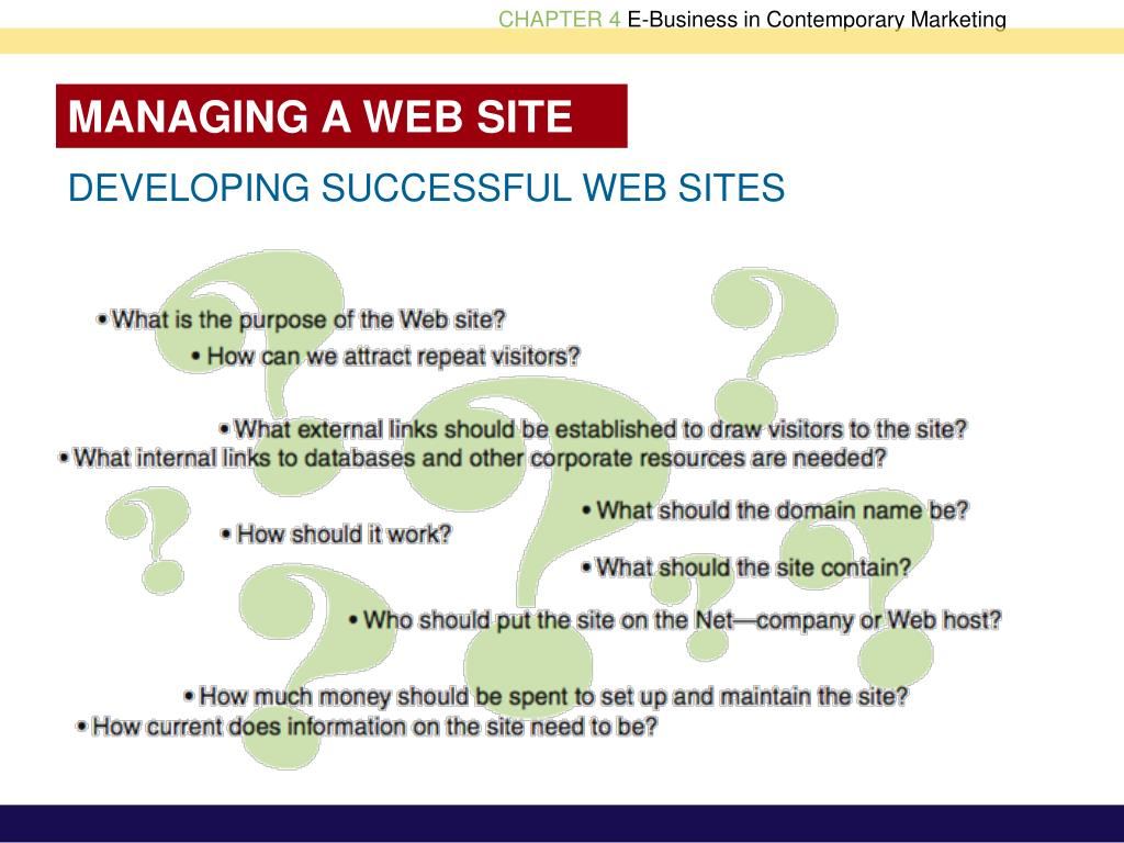 MANAGING A WEB SITE