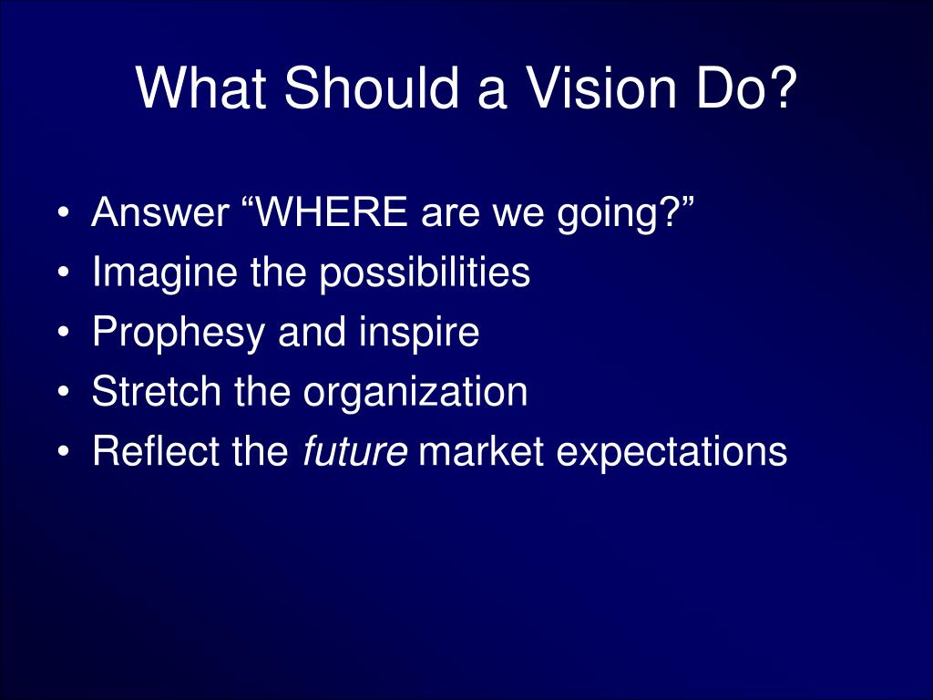 what should a vision do l.
