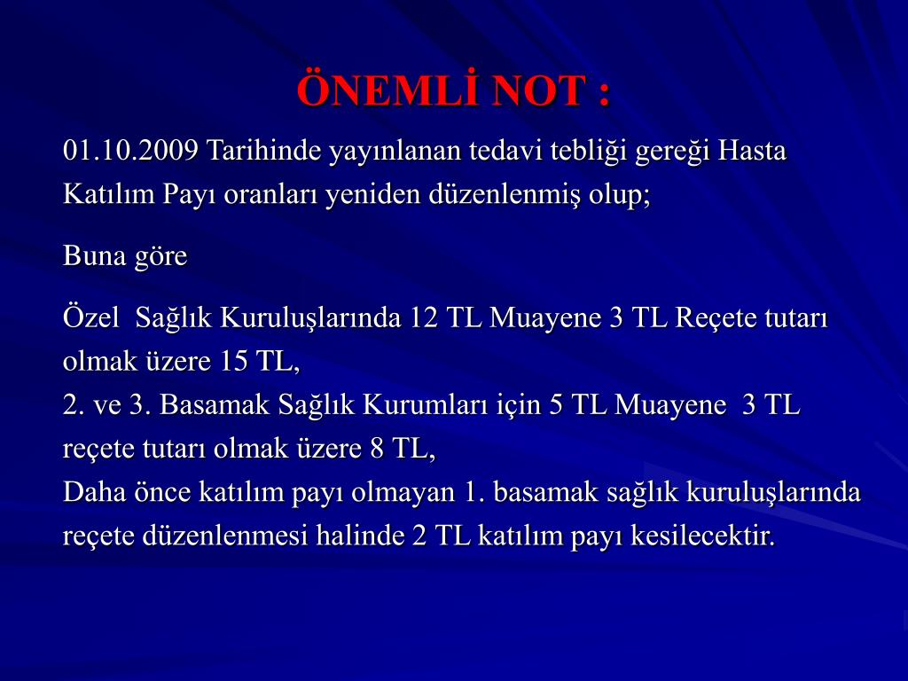 ÖNEMLİ NOT :