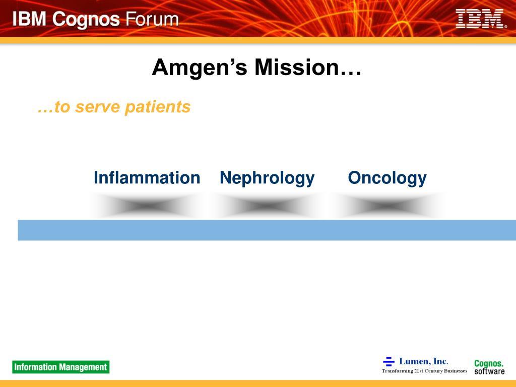 Amgen's Mission…