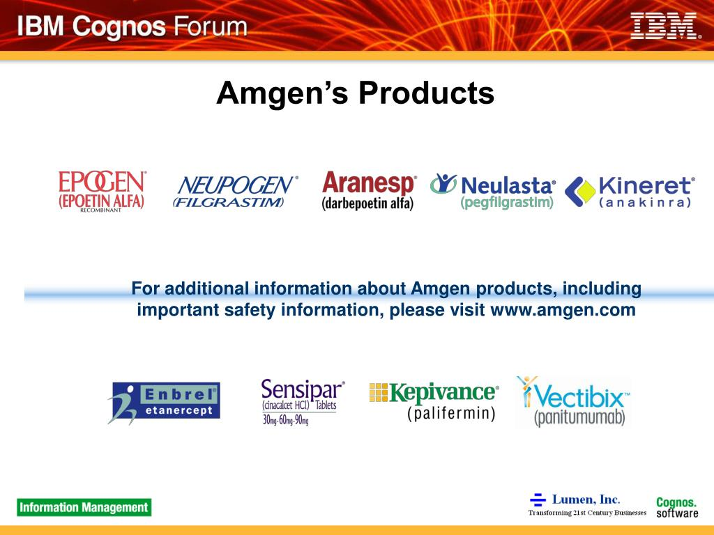 Amgen's Products