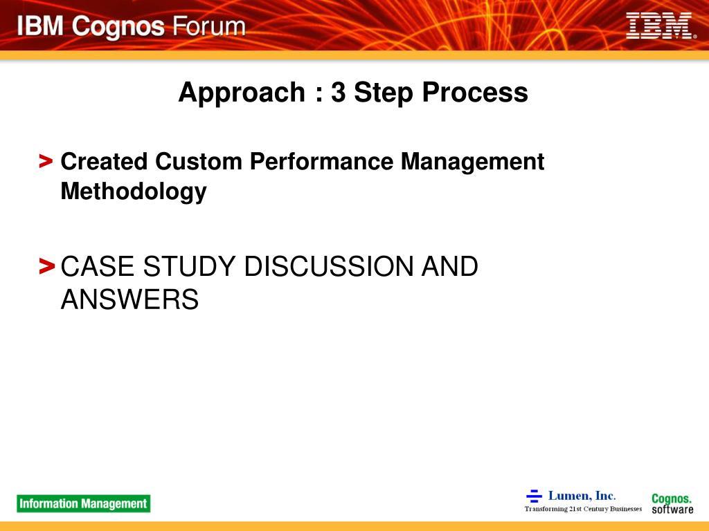 Approach : 3 Step Process